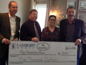 Far Sight Homes presents $20K to four local charities