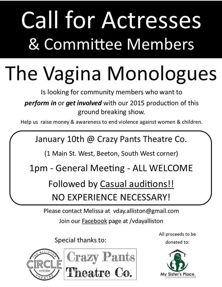 Apologise, vagina monologues committee message