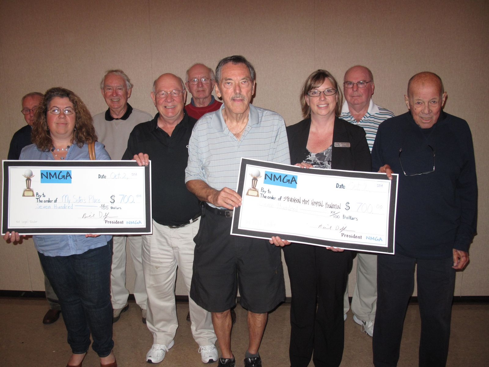 donation to MSP from the Nottawasaga Men's Golf Association