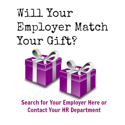 search employers that match gifts for My Sister's Place here
