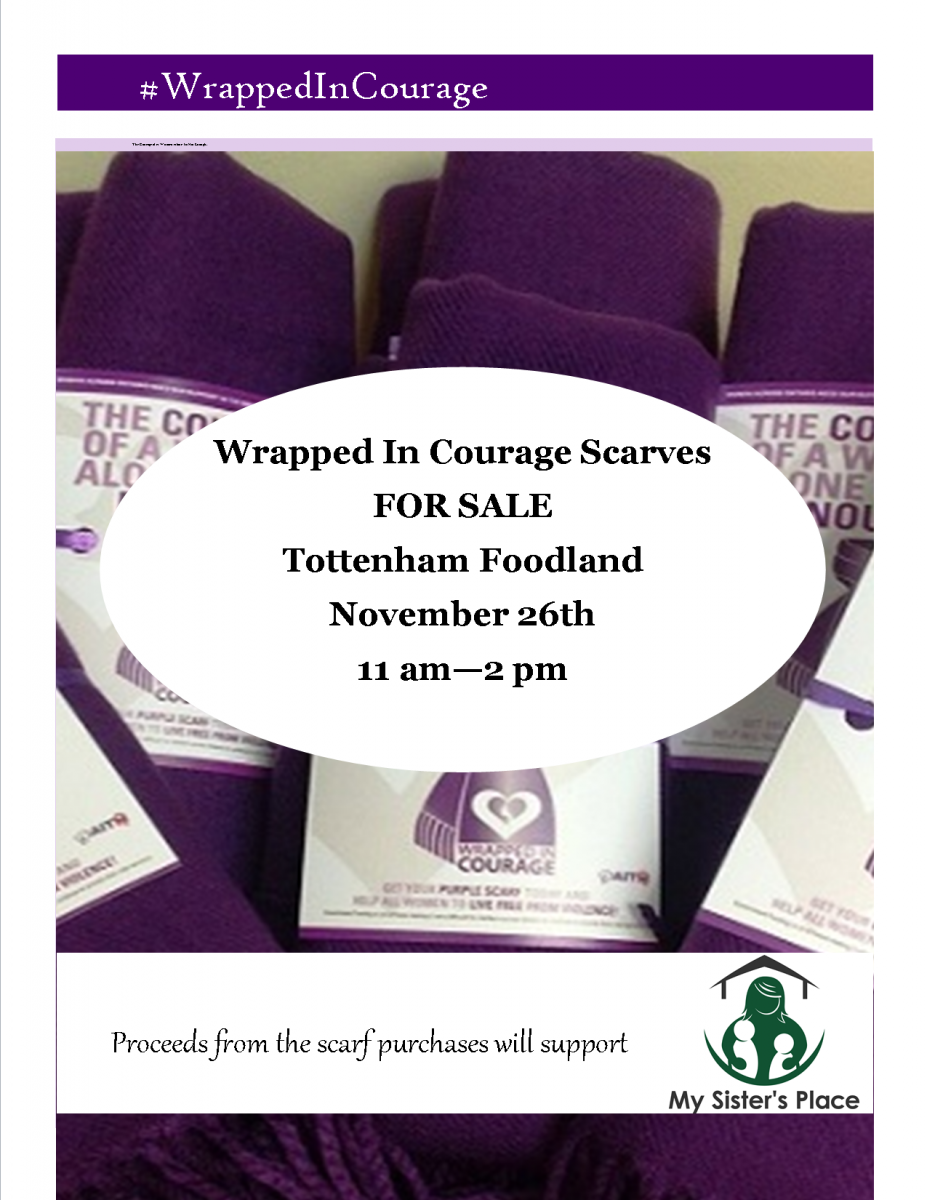 wrapped in courage at tottenham foodland november 26